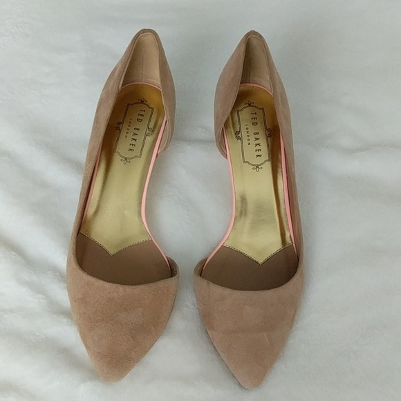 exquisite style exclusive shoes offer discounts Ted Baker nude suede kitten heels sz 37
